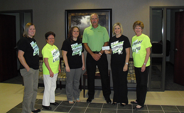 Check Presentation to Team Schnak Cycling - Juvenile Diabetes Research